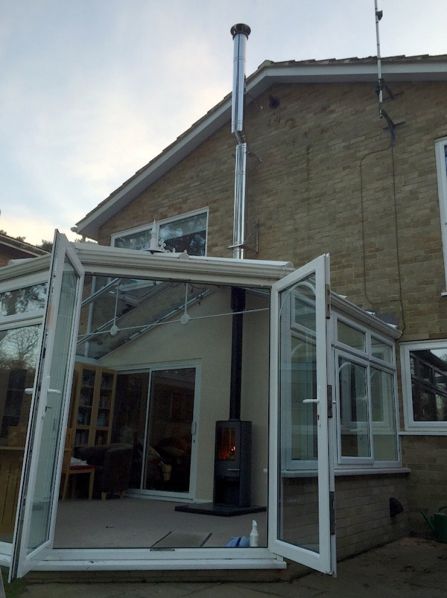 Conservatory stove installation – Embers, Frimley Green