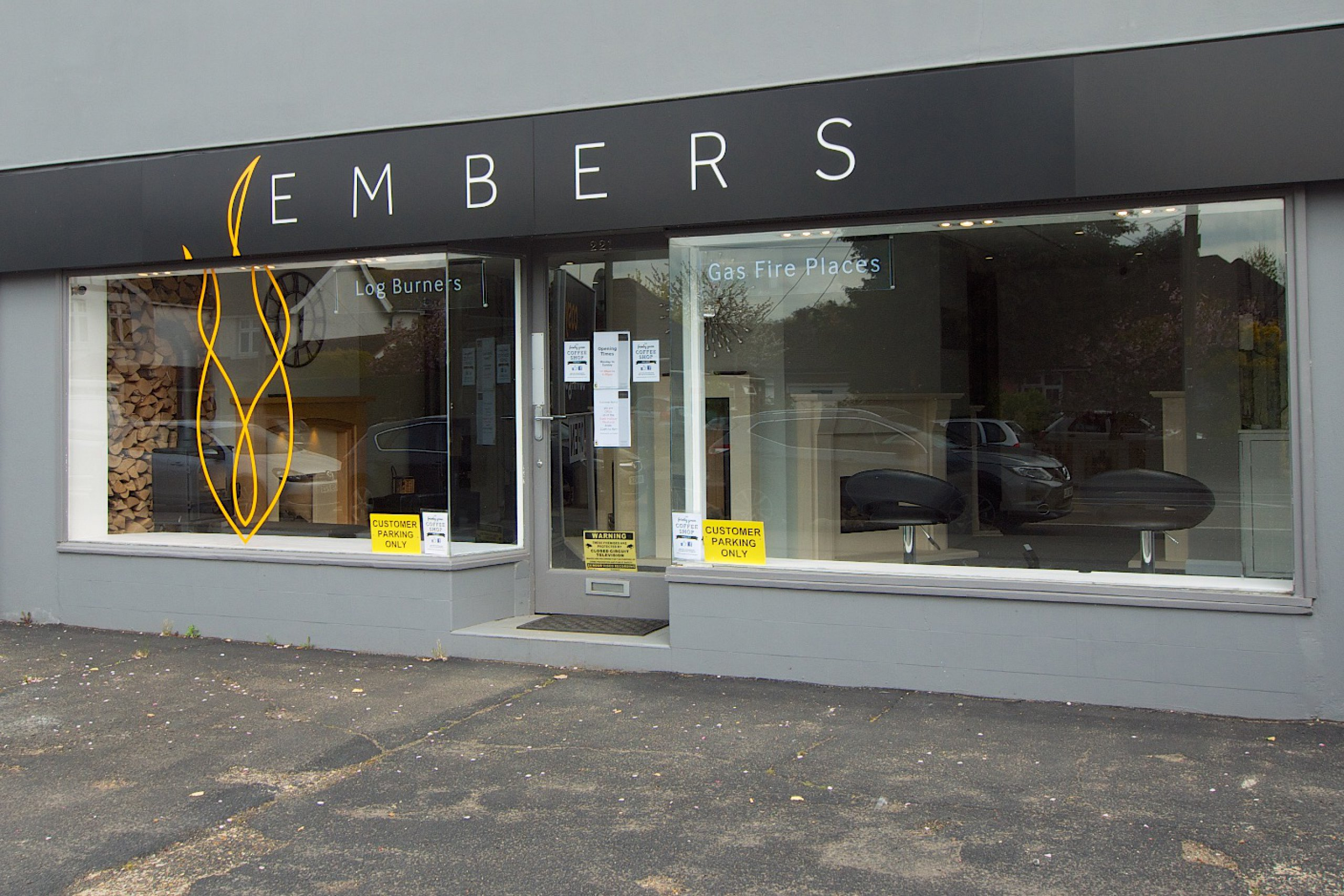 Embers Fireplace showroom in Frimley Green, Camberley, Surrey