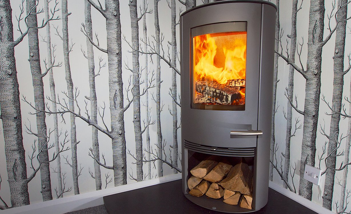 A Termatech wood burning stove